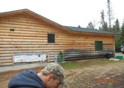 Log Home Finishing Photo WI