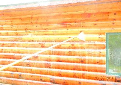 Log Home Washing WI
