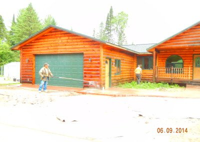 Log Home Washing Refinishing Company Northern WI