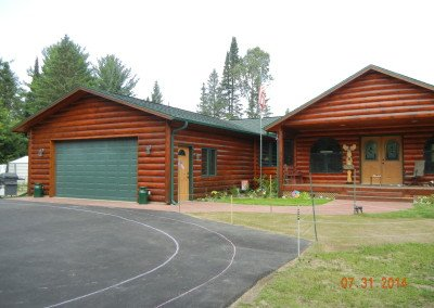 Log Home Restoration Minocqua WI