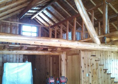 Interior Log Home re-chinking Photo WI