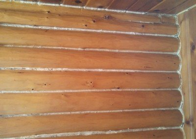 Interior Cabin Chinking Northern WI