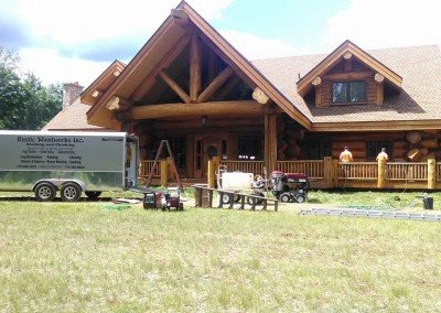 Log home restoration northern wi