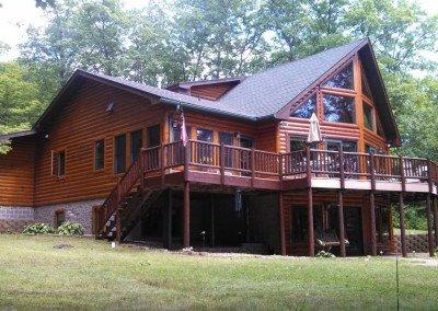 Log Home Painting